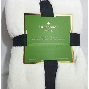 Kate Spade White Full Queen Fleece Blanket